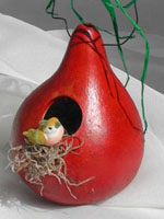 Red Bird House Gourd