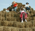 Kids at the top of our Straw Pyramid