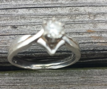 Lost Solitaire Diamond ring found at Lakeview Farms
